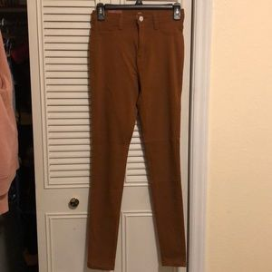 Caramel colored jeggings